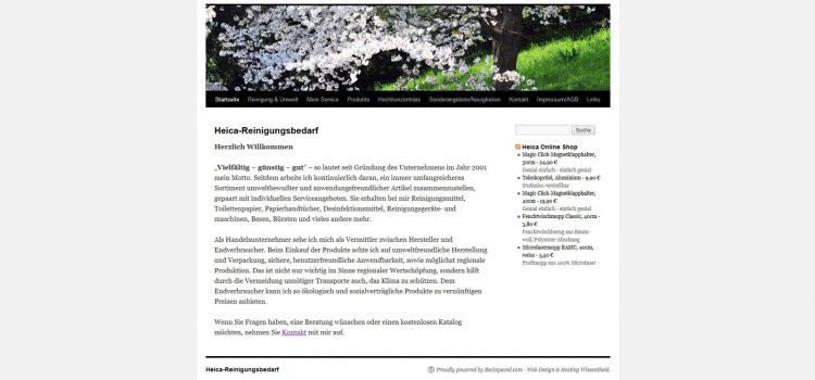 Homepage HeiCa Reinigungsbedarf Wiesentheid
