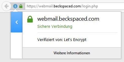 Yes, das Grüne Schloss in der Adress-Bar des Web-Browsers!