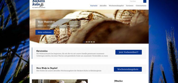 Bäckerei Kuhn aus Kleinlangheim nun auch online im Netz erreichbar!