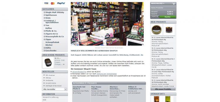 Geniesser-Shop24 – Neueröffnung Tabakwaren Schmidt in Würzburg
