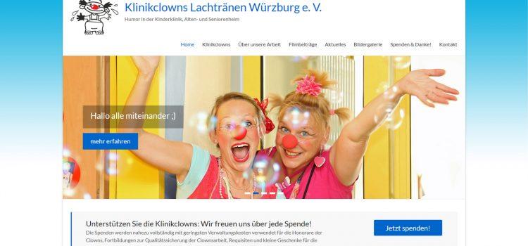 Neugestaltung der Webseite Klinikclowns Lachtränen Würzburg e.V