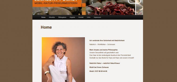 Online Visitenkarte Elisabeth Pomazy – Mobil Natur Friseur