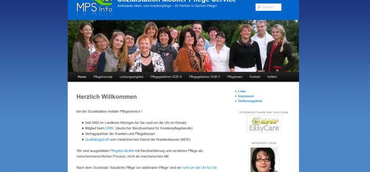Neuer Webauftritt der Sozialstation Mobiler Pflegeservice Dettelbach