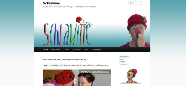 Individuelle Clownerie Schlawine im neuen Web-Gewand