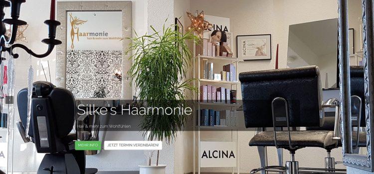 Silke's Haarmonie aus Kitzingen im neuem 'One-Pager' Webdesign