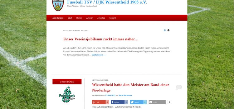 Neue Vereinswebseite von TSV / DJK Wiesentheid 1905 e.V. geht an den Start