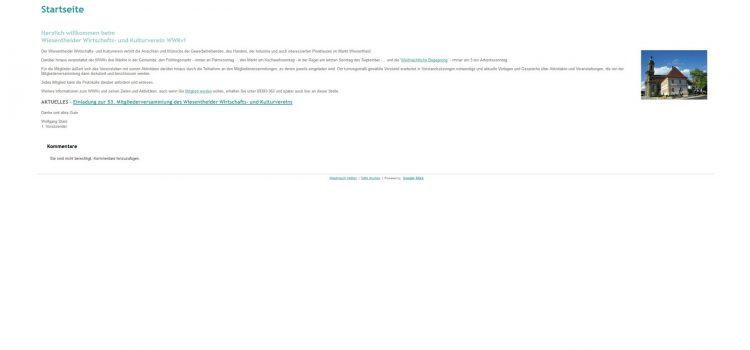 Beckspaced Web Design Wiesentheid betreut die Webseiten des WWKv